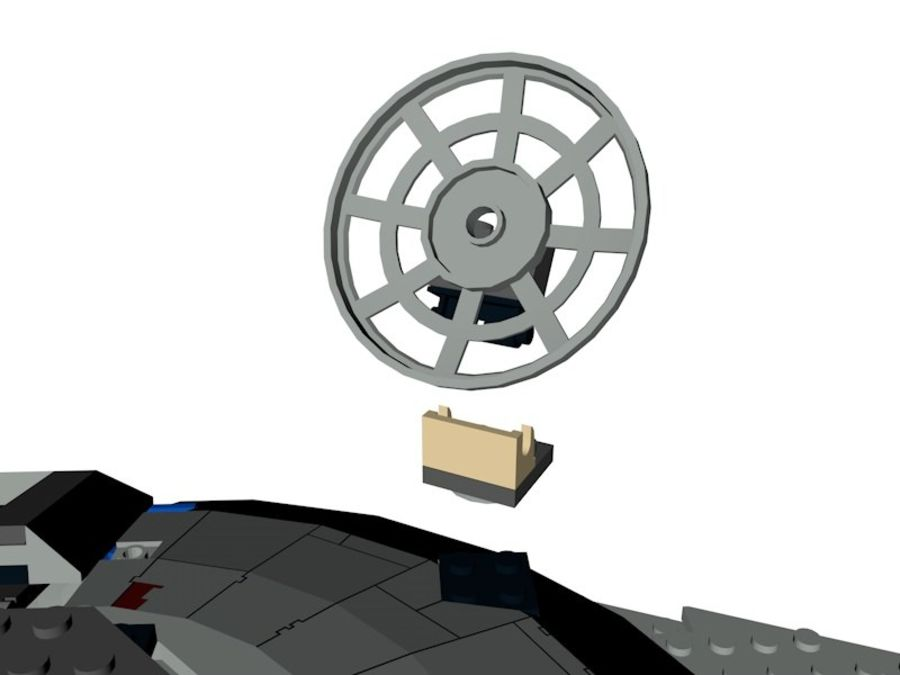 LEGO Star Wars Millennium Falcon royalty-free 3d model - Preview no. 12