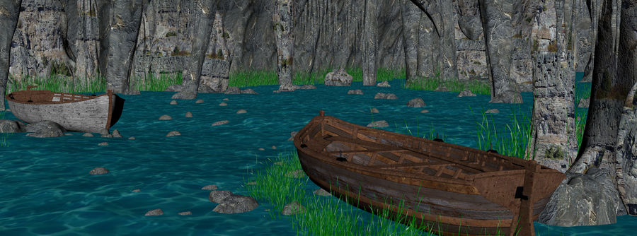 Water Cave royalty-free 3d model - Preview no. 7