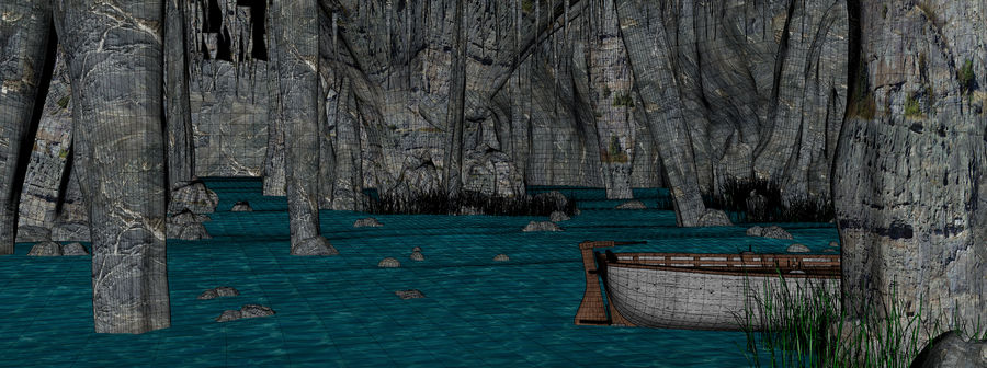 Water Cave royalty-free 3d model - Preview no. 10