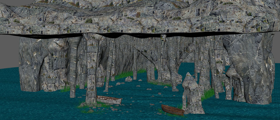 Water Cave royalty-free 3d model - Preview no. 6