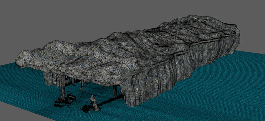 Water Cave royalty-free 3d model - Preview no. 11