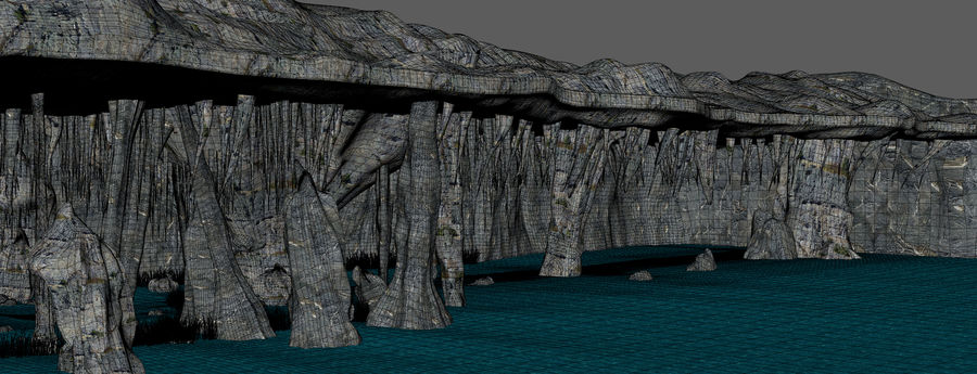 Water Cave royalty-free 3d model - Preview no. 12
