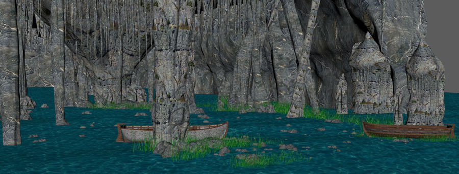 Water Cave royalty-free 3d model - Preview no. 5