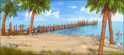 Dock Landscape 3d model