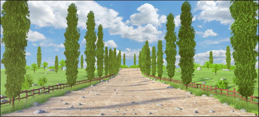 Cipres Path Landscape royalty-free 3d model - Preview no. 1