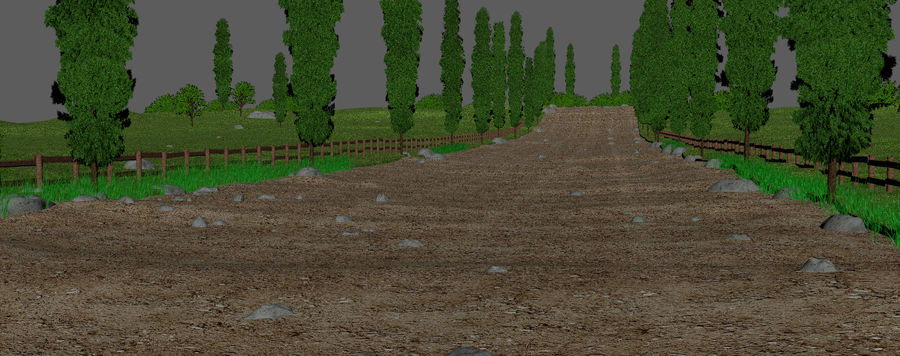 Cipres Path Landscape royalty-free 3d model - Preview no. 7