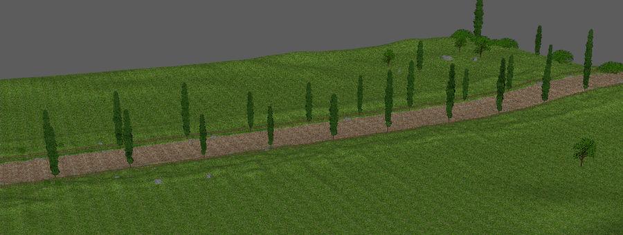 Cipres Path Landscape royalty-free 3d model - Preview no. 8