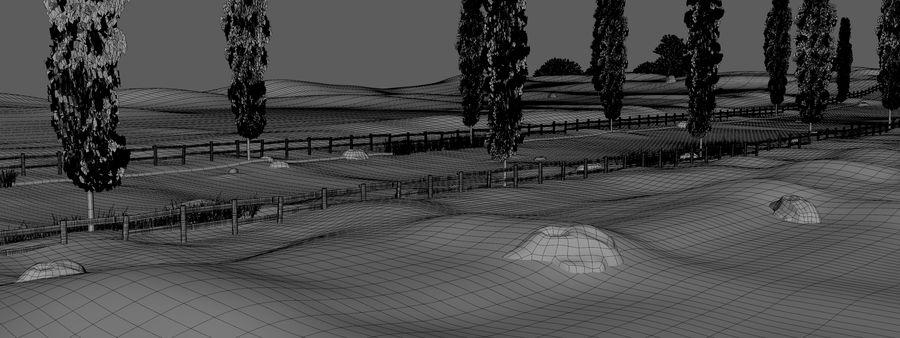 Cipres Path Landscape royalty-free 3d model - Preview no. 10