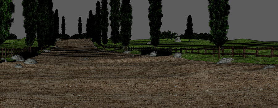 Cipres Path Landscape royalty-free 3d model - Preview no. 12