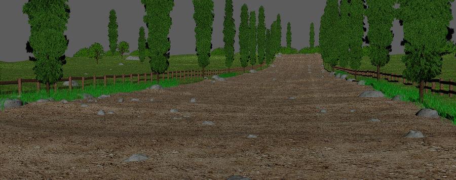 Cipres Path Landscape royalty-free 3d model - Preview no. 7
