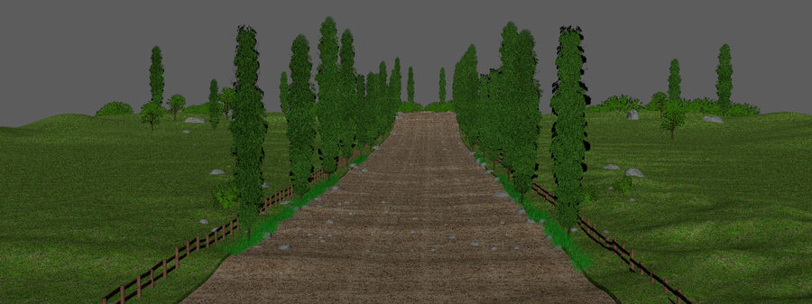 Cipres Path Landscape royalty-free 3d model - Preview no. 5