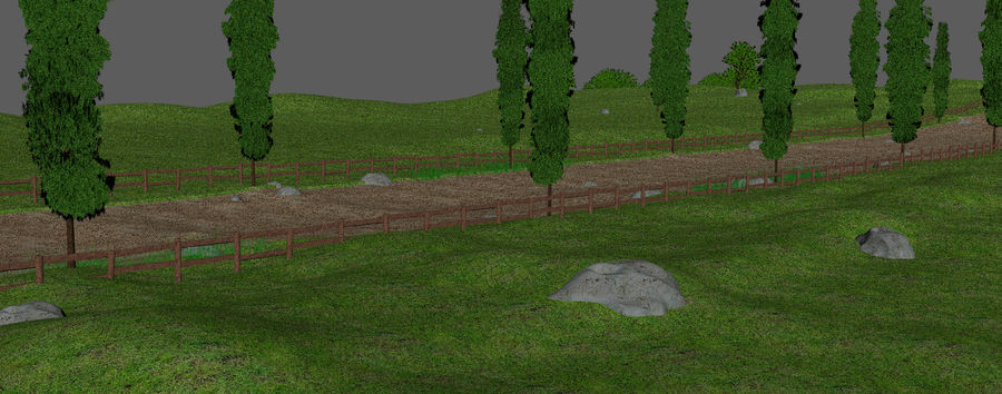 Cipres Path Landscape royalty-free 3d model - Preview no. 9