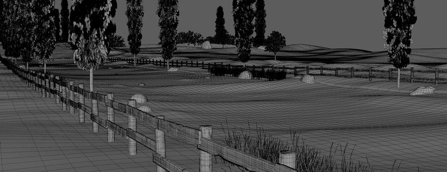Cipres Path Landscape royalty-free 3d model - Preview no. 11