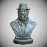 Stylized Gangster bust 3d model