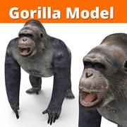 low poly gorilla 3d model