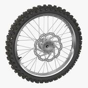 Motocross Bike Front Wheel 3d model