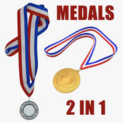 Medals 3D Models Collection 3d model