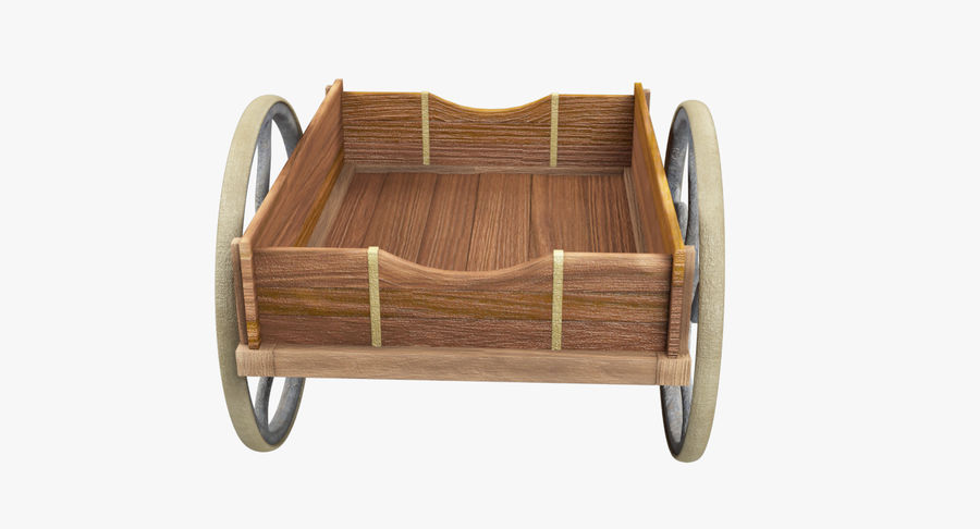 Old Wooden Cart V1 royalty-free 3d model - Preview no. 6