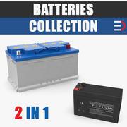 Coleção de modelos 3D de baterias 3d model