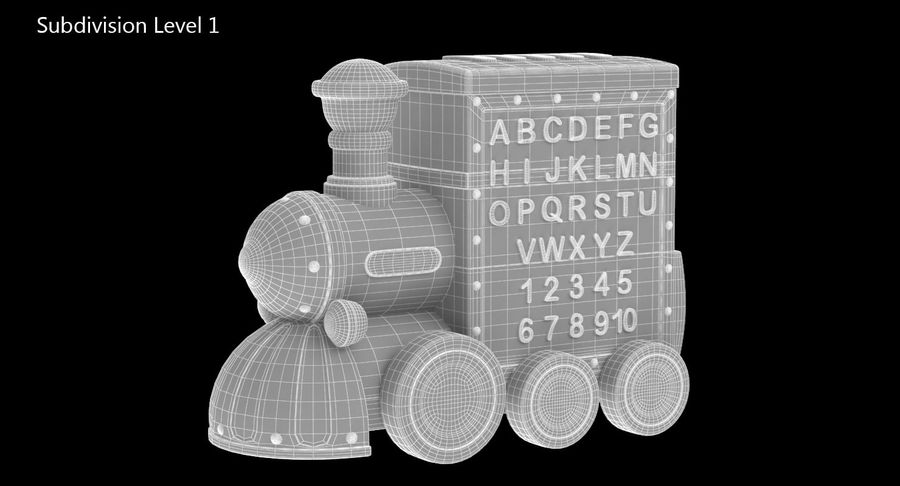 Toy Train Musical royalty-free 3d model - Preview no. 12
