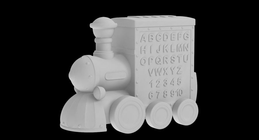 Toy Train Musical royalty-free 3d model - Preview no. 16