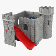 Classic Toy Castle Playground 3d model