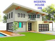 Modern huis (volledig interieur) 3d model