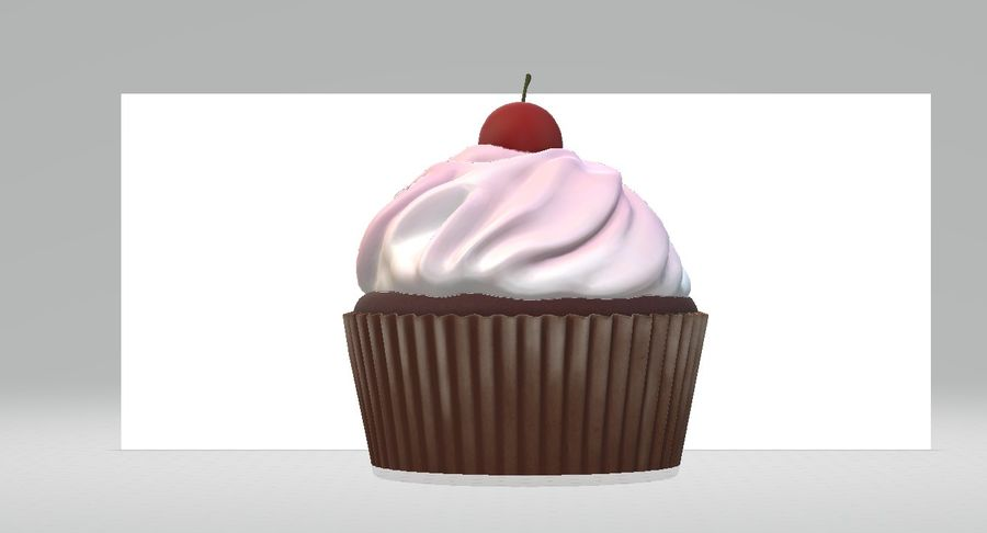 Petit gâteau royalty-free 3d model - Preview no. 4