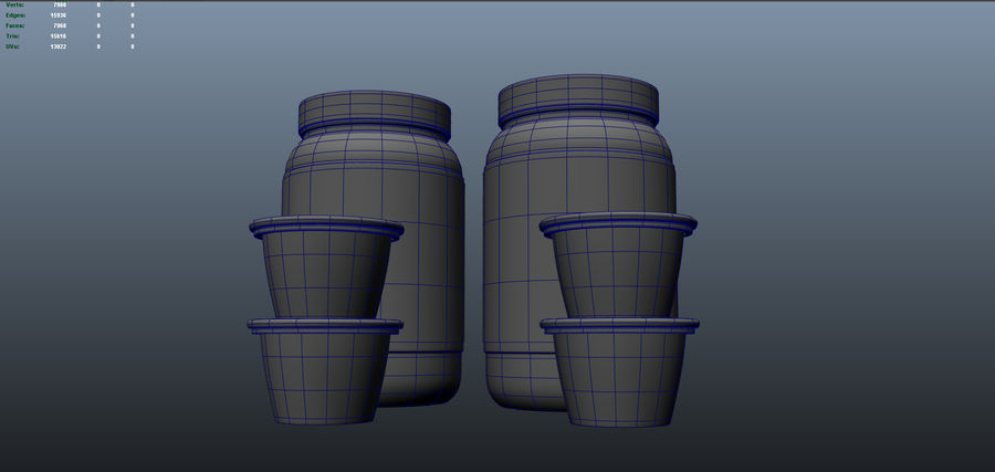 Jam Fles royalty-free 3d model - Preview no. 9