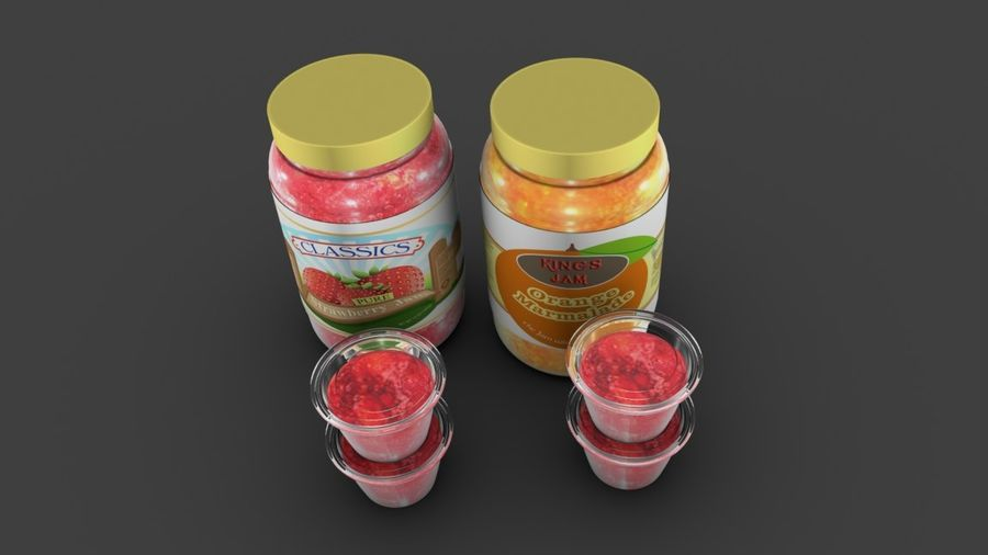 Jam Fles royalty-free 3d model - Preview no. 6
