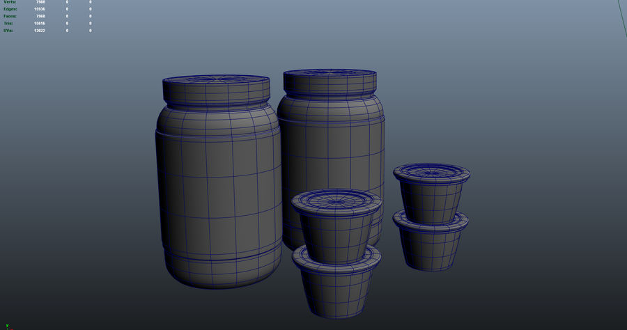 Jam Fles royalty-free 3d model - Preview no. 8