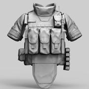 Russian Army bulletproof vest 6B43 Ratnik 3d model