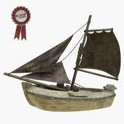 Парусная лодка 3d model