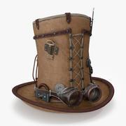 Steampunk-Hut 3d model