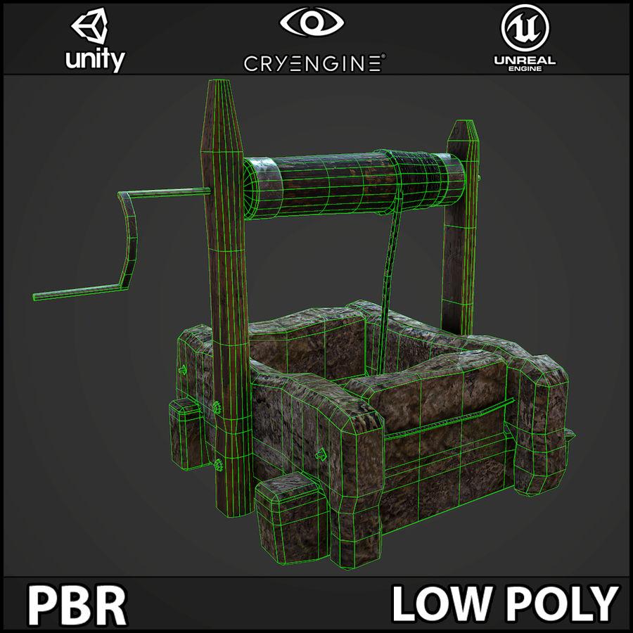 오래 된 잘 PBR 게임 준비 royalty-free 3d model - Preview no. 11