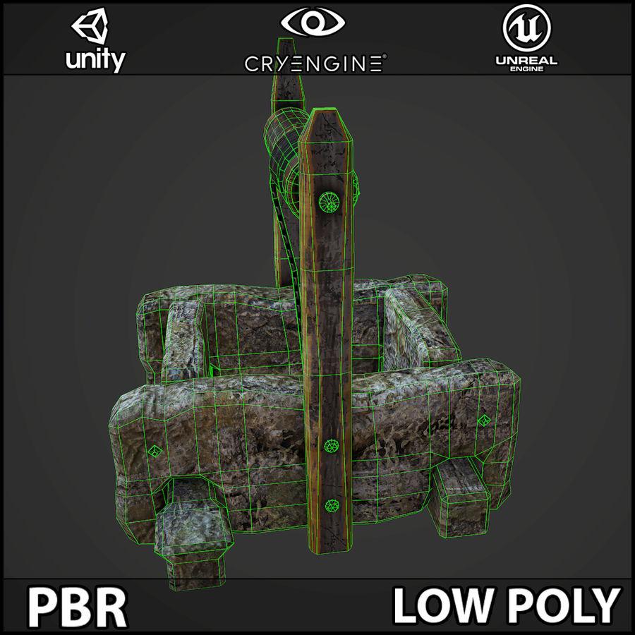 오래 된 잘 PBR 게임 준비 royalty-free 3d model - Preview no. 12