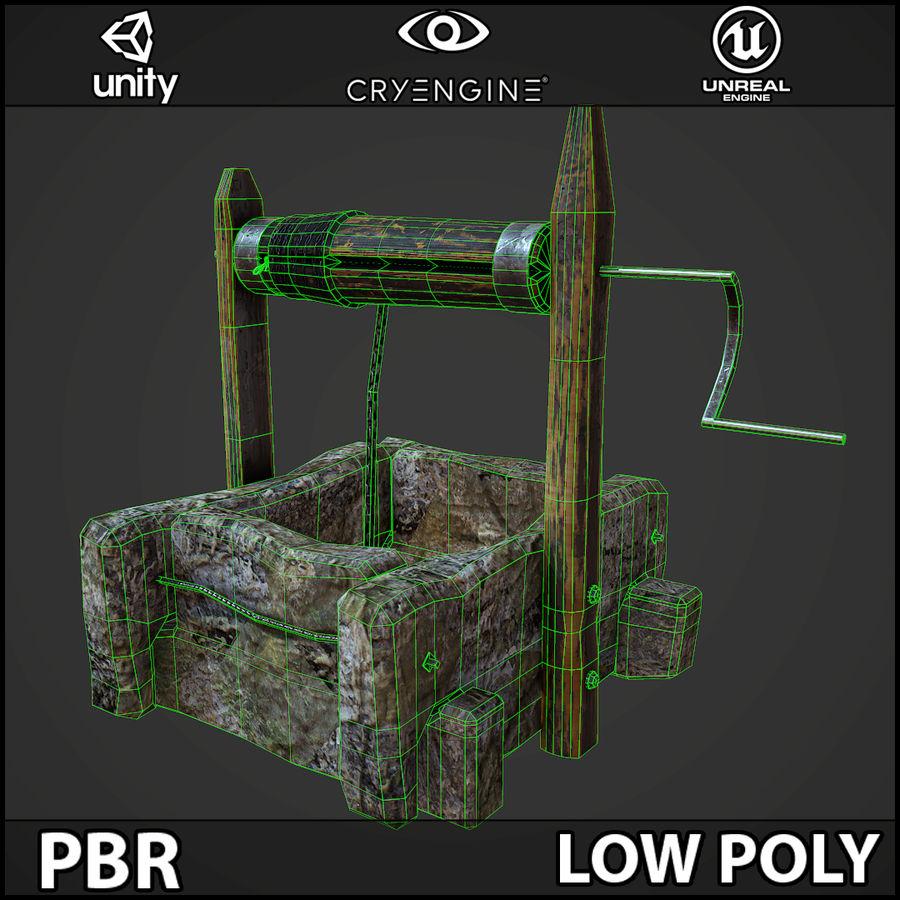 오래 된 잘 PBR 게임 준비 royalty-free 3d model - Preview no. 10