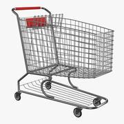 Metalen winkelwagen 3d model