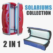 Collection de modèles de solariums 3D 3d model