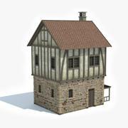 Middeleeuws huis 2 3d model