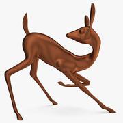 坡鹿雕像 3d model