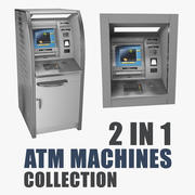 Collection de modèles 3D de machines ATM 3d model
