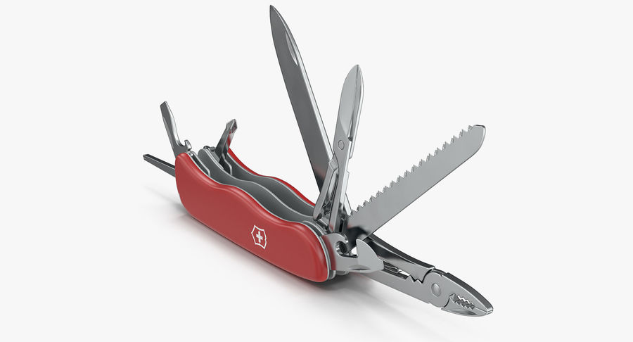 Swiss Army Classic Pen Knife royalty-free 3d model - Preview no. 2