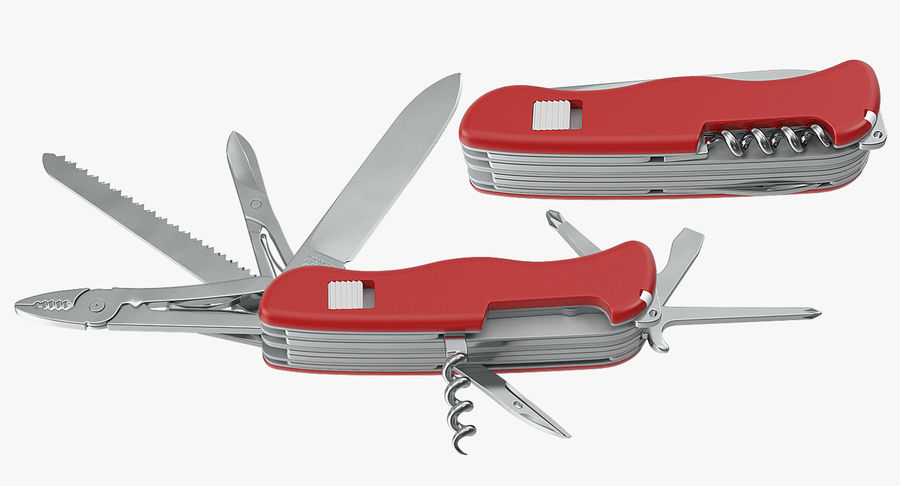 Swiss Army Classic Pen Knife royalty-free 3d model - Preview no. 8