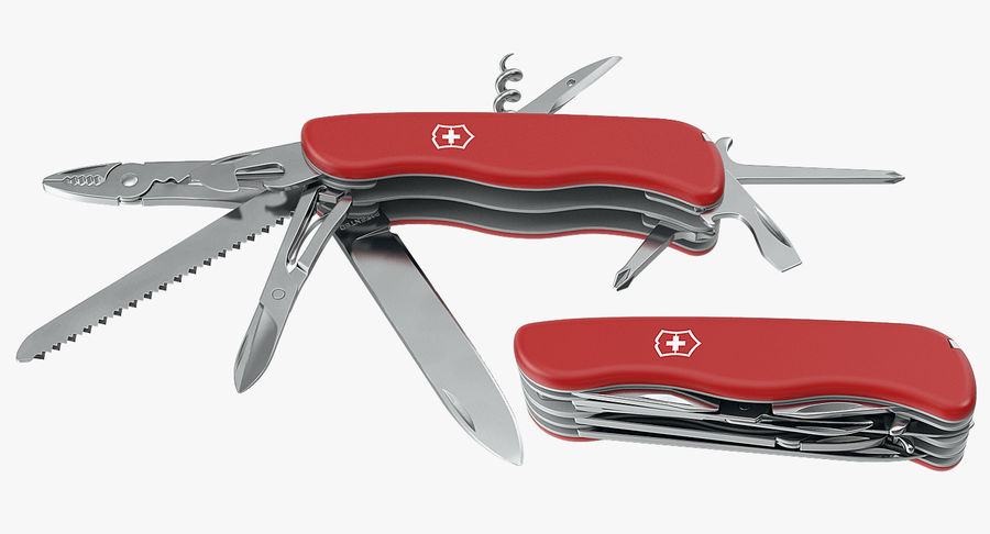 Swiss Army Classic Pen Knife royalty-free 3d model - Preview no. 7