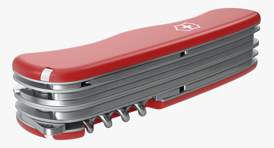 Swiss Army Classic Pen Knife royalty-free 3d model - Preview no. 6