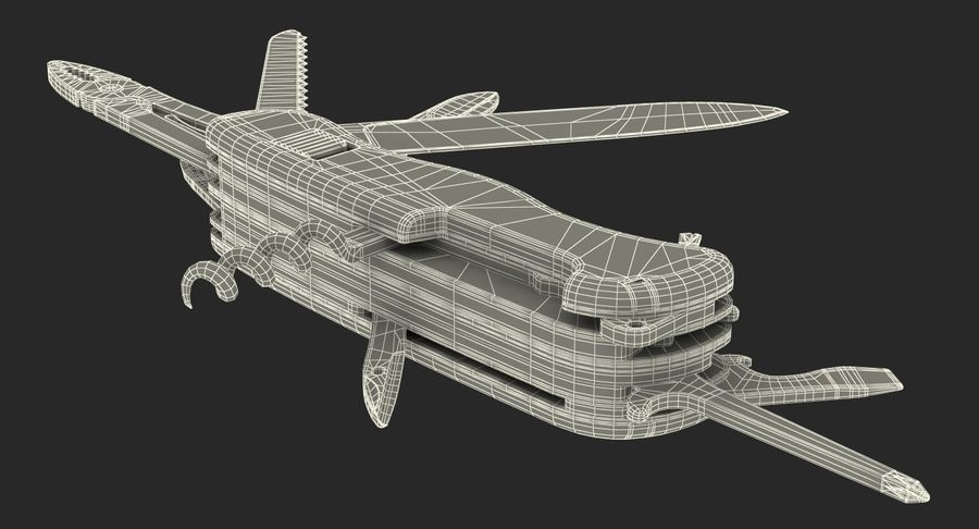 Swiss Army Classic Pen Knife royalty-free 3d model - Preview no. 18