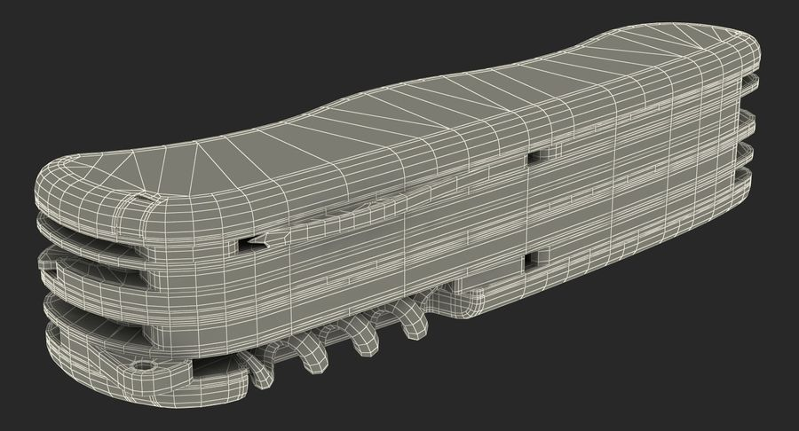 Swiss Army Classic Pen Knife royalty-free 3d model - Preview no. 20