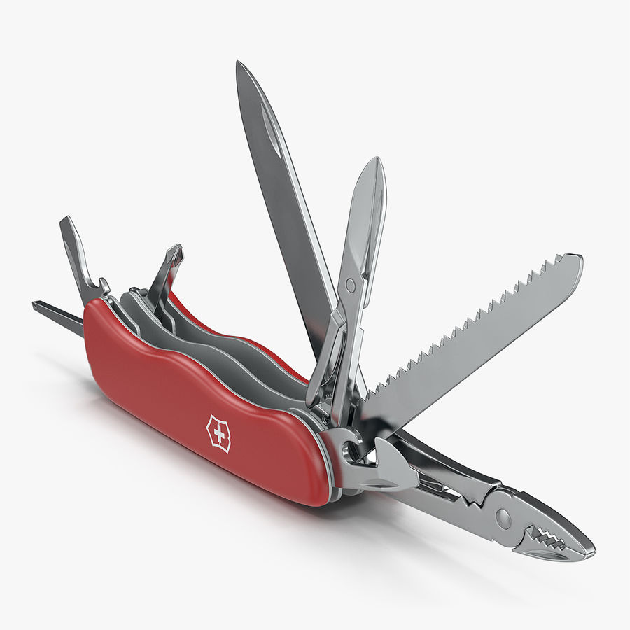 Swiss Army Classic Pen Knife royalty-free 3d model - Preview no. 1