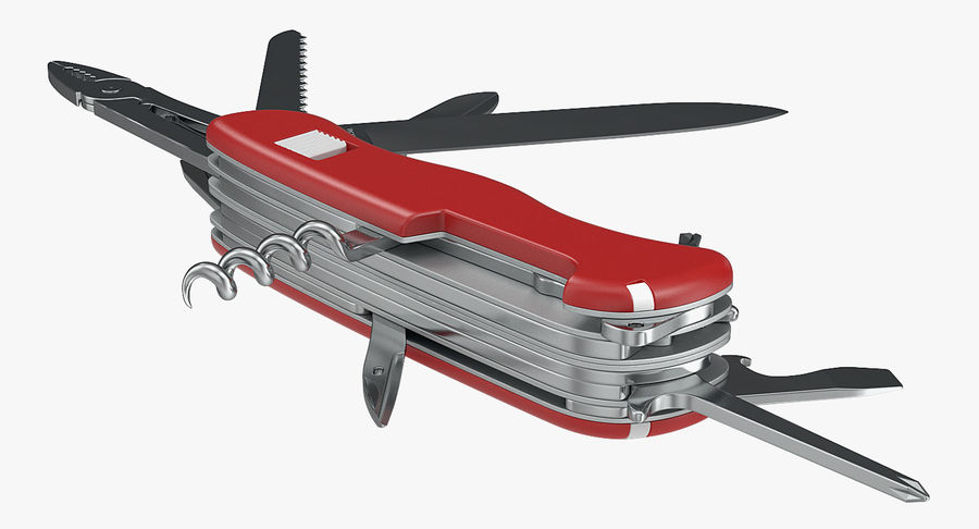 Swiss Army Classic Pen Knife royalty-free 3d model - Preview no. 4